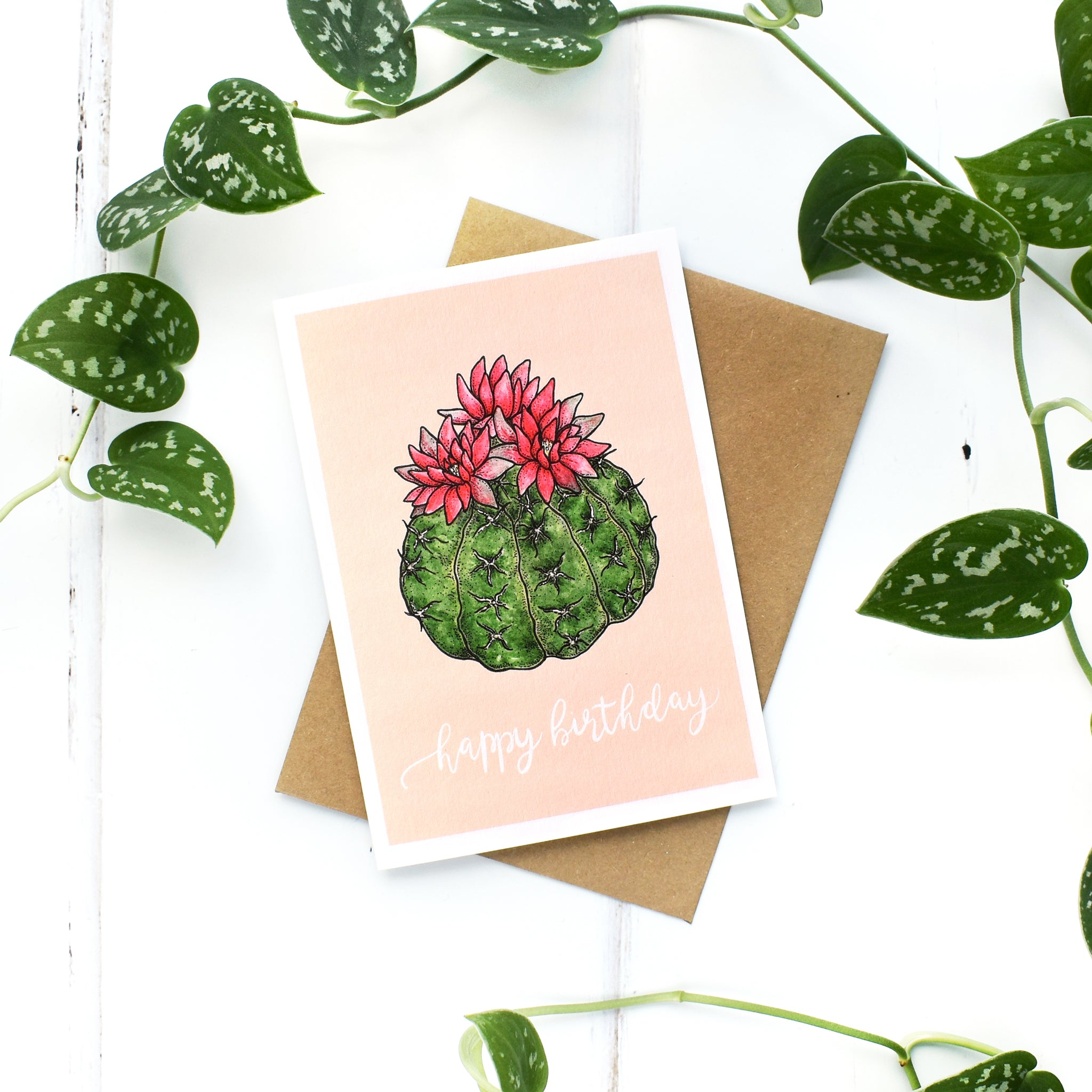 Cacti Birthday A6 Greeting Card, Blank Inside