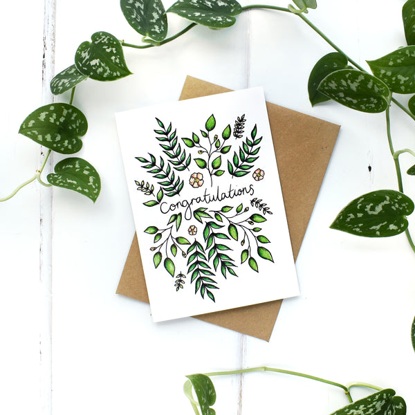 Congratulations, A6 Greeting Card Blank Inside