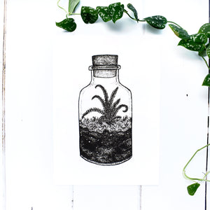 Cork Terrarium A5 Screen Print