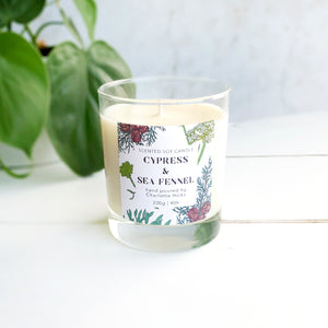 Cypress and Sea Fennel Scented Soy Candle