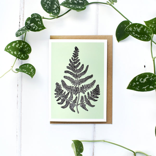 Fern A6 Greeting Card, Blank Inside