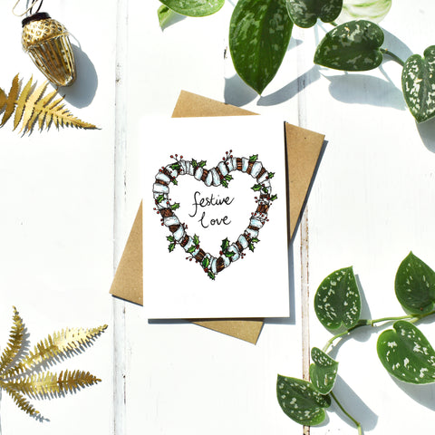 Festive Love Christmas Card
