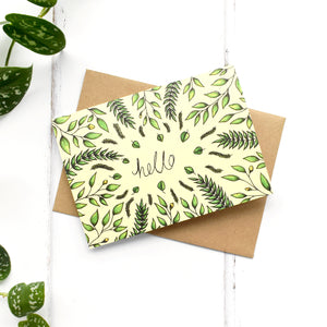 Hello Yellow Botanical A6 Greeting Card