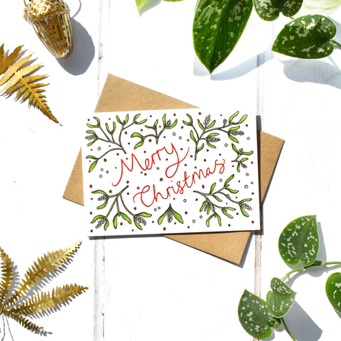 Merry Mistletoe Christmas Card