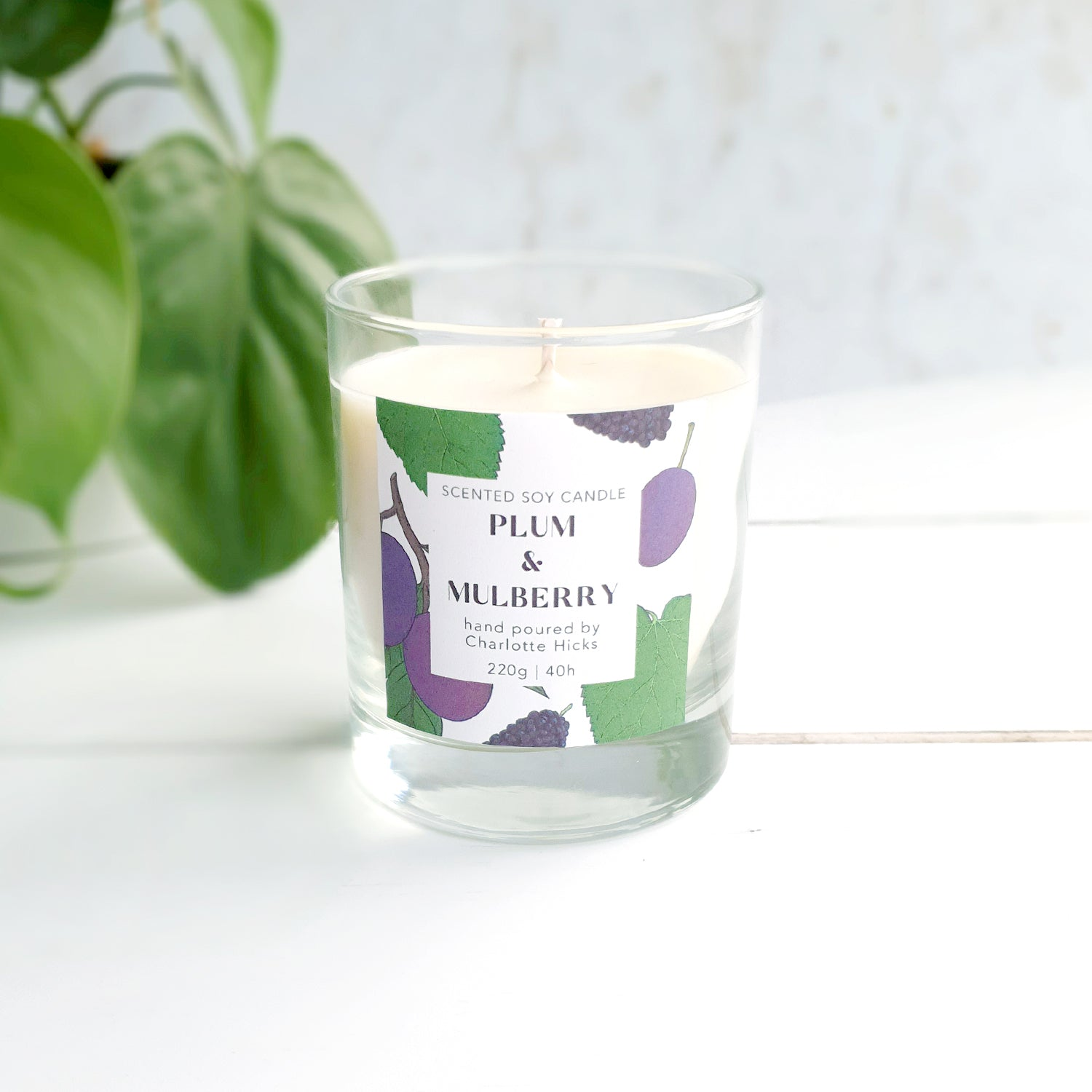 Plum and Mulberry Scented Soy Candle