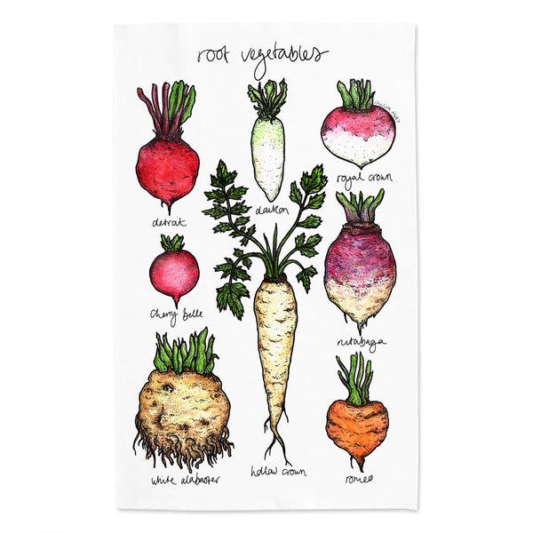 Vegetable Tea Towel Set of 3