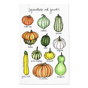 Squashes and Gourds Tea Towel
