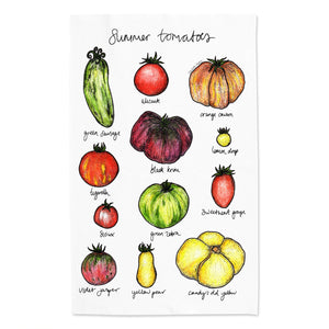 Summer Tomatoes Tea Towel