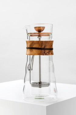Hario Double Wall Coffee Press Olive Wood