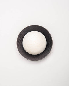 pine-peppermint salt soap set black round
