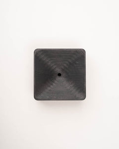 pine soap plate black square