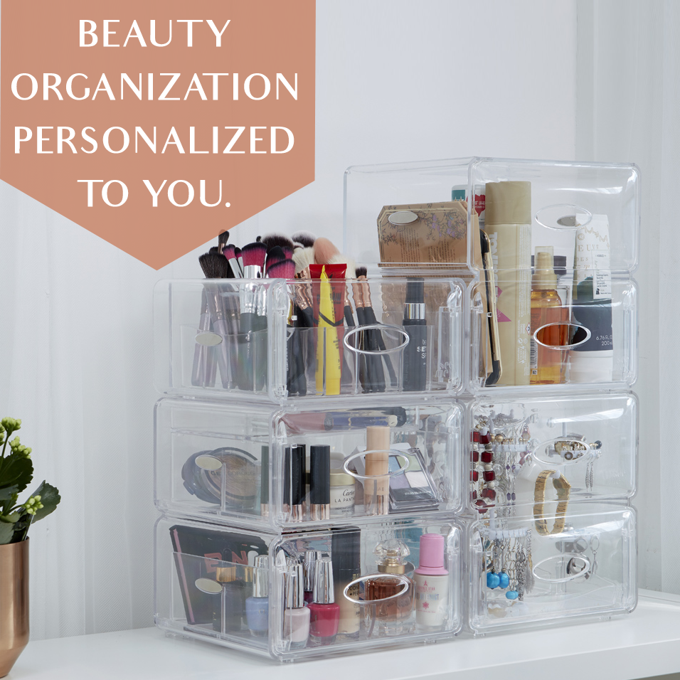 SEE ME CUSTOMISABLE CLEAR BEAUTY ORGANISERS