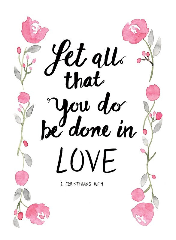Let All That You Do Be Done in Love Candle