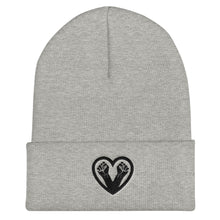 Load image into Gallery viewer, Black Love Cuffed Beanie