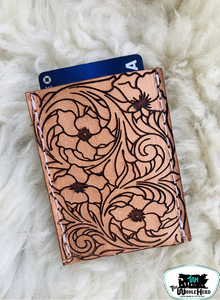 Tooled Leather Card Holder