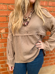 TH Dusty Taupe Top
