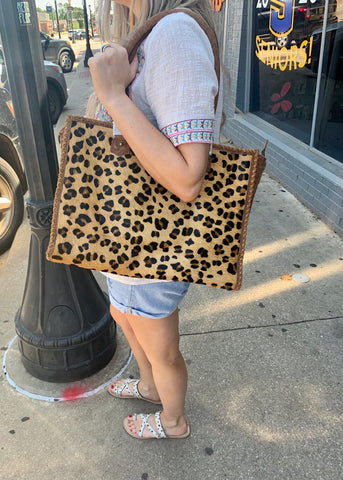 Large Leopard Purse