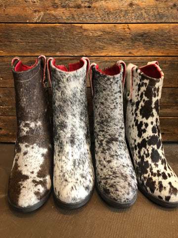 Cowhide Booties