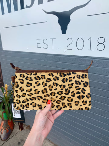 TH The Leopard Wristlet