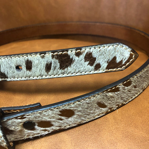 Gold Acid Washed Leopard Print Belt