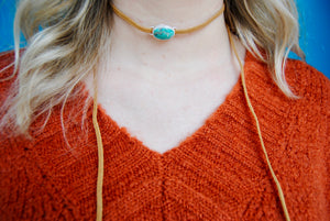 TH Turquoise Wrap Choker