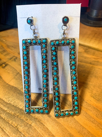 Rectangle Zuni Earrings