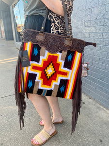 Red and Yellow Aztec Bag