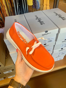Orange Slip On Shoes