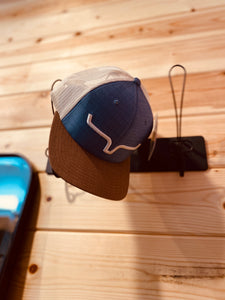 Kimes Weekly Trucker Blue/Brown Hat