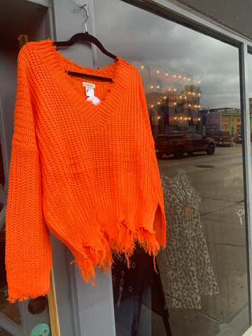 Orange Power Sweater