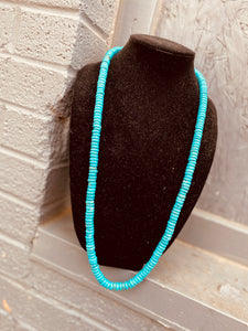"32"" Rolled Turquoise Necklace"