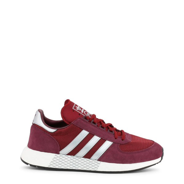 Adidas - Sneakers Rouge, Bandes Blanches