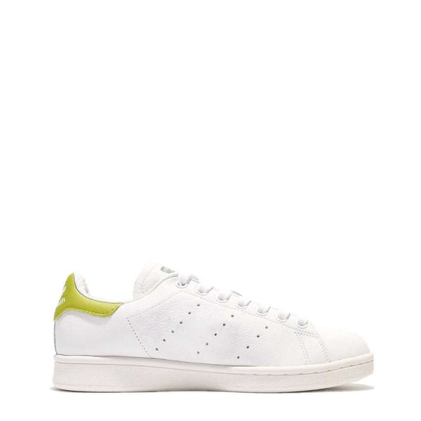 Adidas - Stan Smith blanc, talon jaune