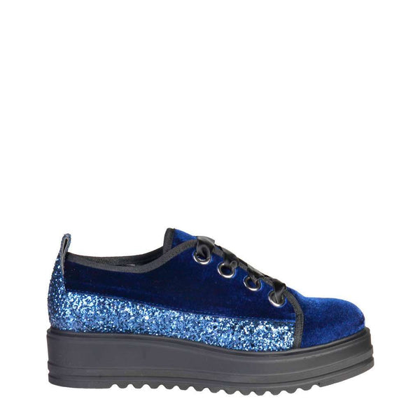 Ana Lublin - Femme Sneakers Bleu, lacets satin