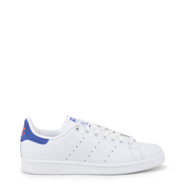 Adidas - Basket Homme Stan Smith Blanc Patch Bleu