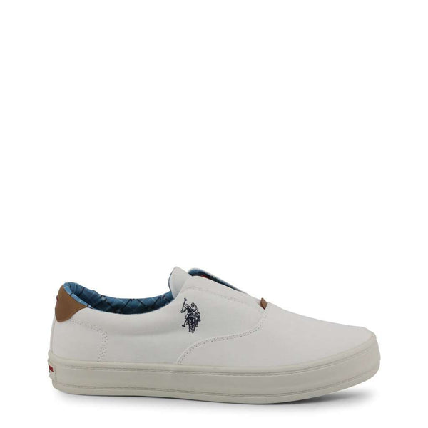 U.S. Polo - Sneakers Homme Slip-on Tissu Blanc