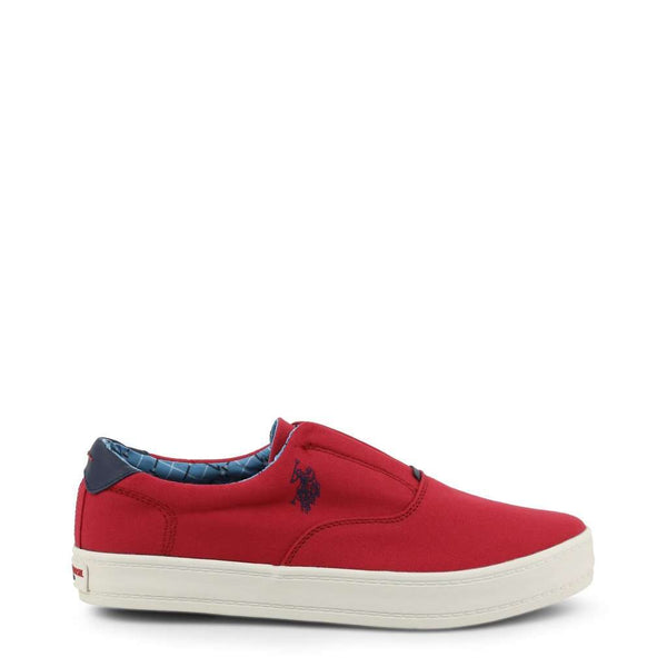 U.S. Polo - Sneakers Homme Slip-on Tissu Rouge