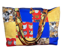 Load image into Gallery viewer, Cat Lover | One-Of-A-Kind Quilted Tote By Nancy