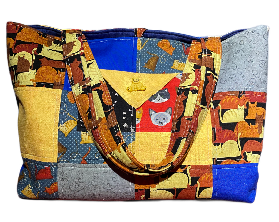 Cat Lover | One-Of-A-Kind Quilted Tote By Nancy