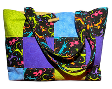 Load image into Gallery viewer, Cat Fun | One-Of-A-Kind Quilted Tote By Nancy