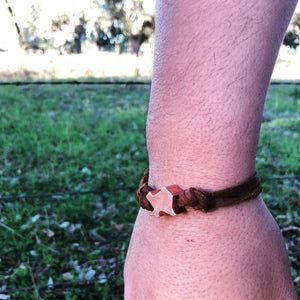 Texas copper bead bracelet