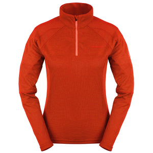 LD ACTIVE 1/2 ZIP LS T-SHIRT