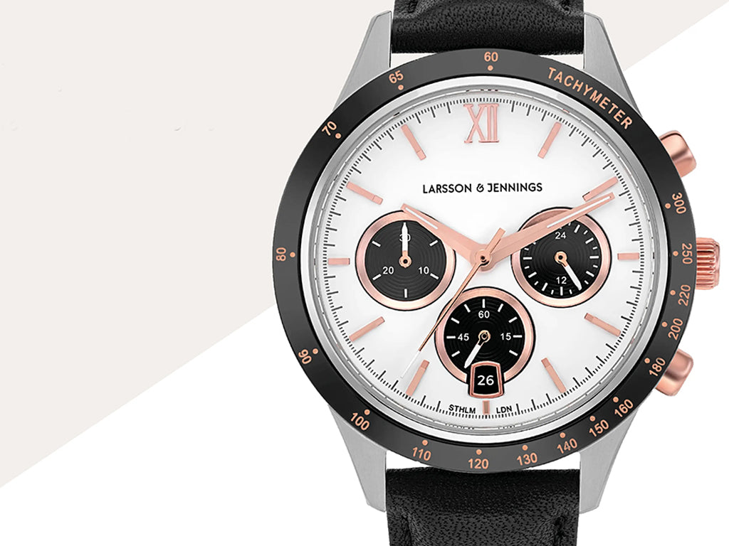 LARSSON & JENNINGS Rally Vasa Link 39MM Silver Black