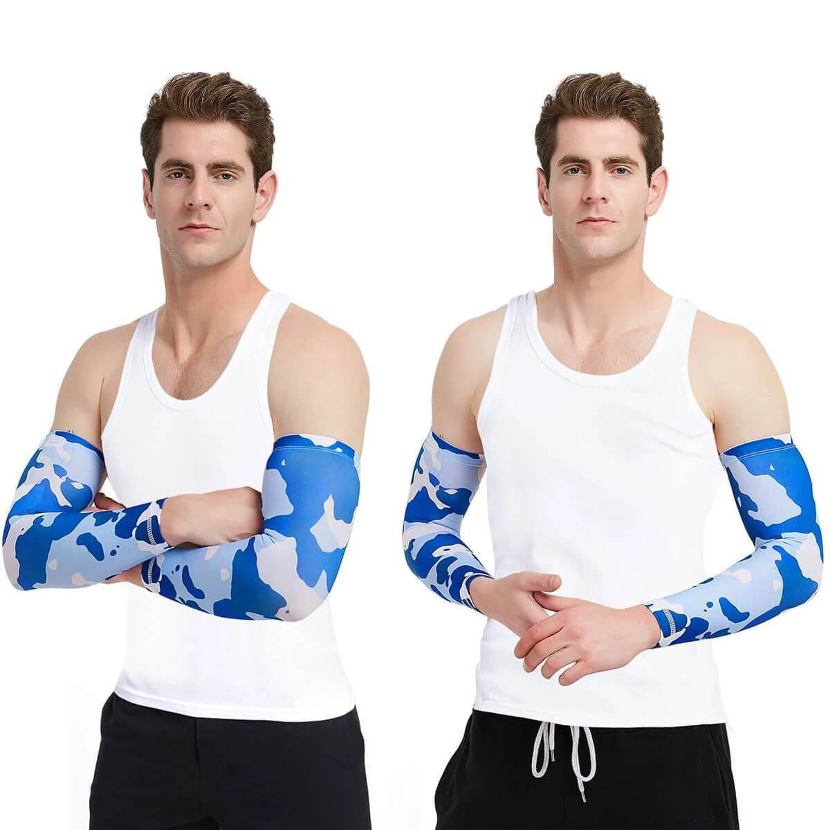 Compression Sleeves to Cover Arm for Cycling Running Football - Sports Accessories Collectors - Shinymod