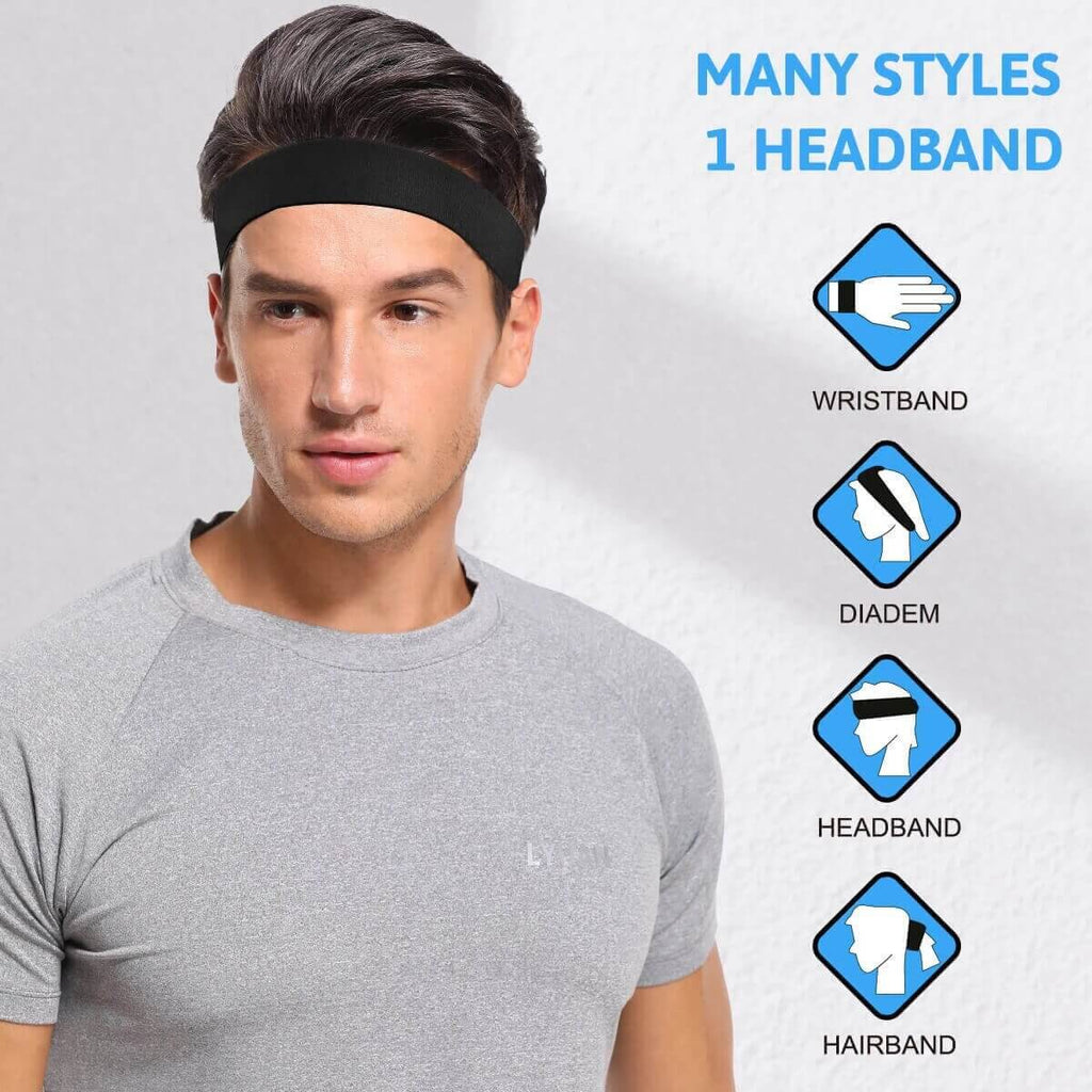 Sweatband Sport Headband for Men and Women - Sports Accessories Collectors - Shinymod