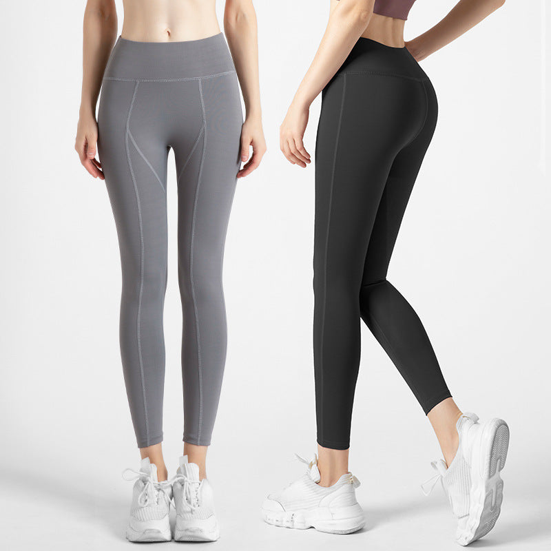 Hip Lifting Nude-Feeling Fitness Leggings Capris