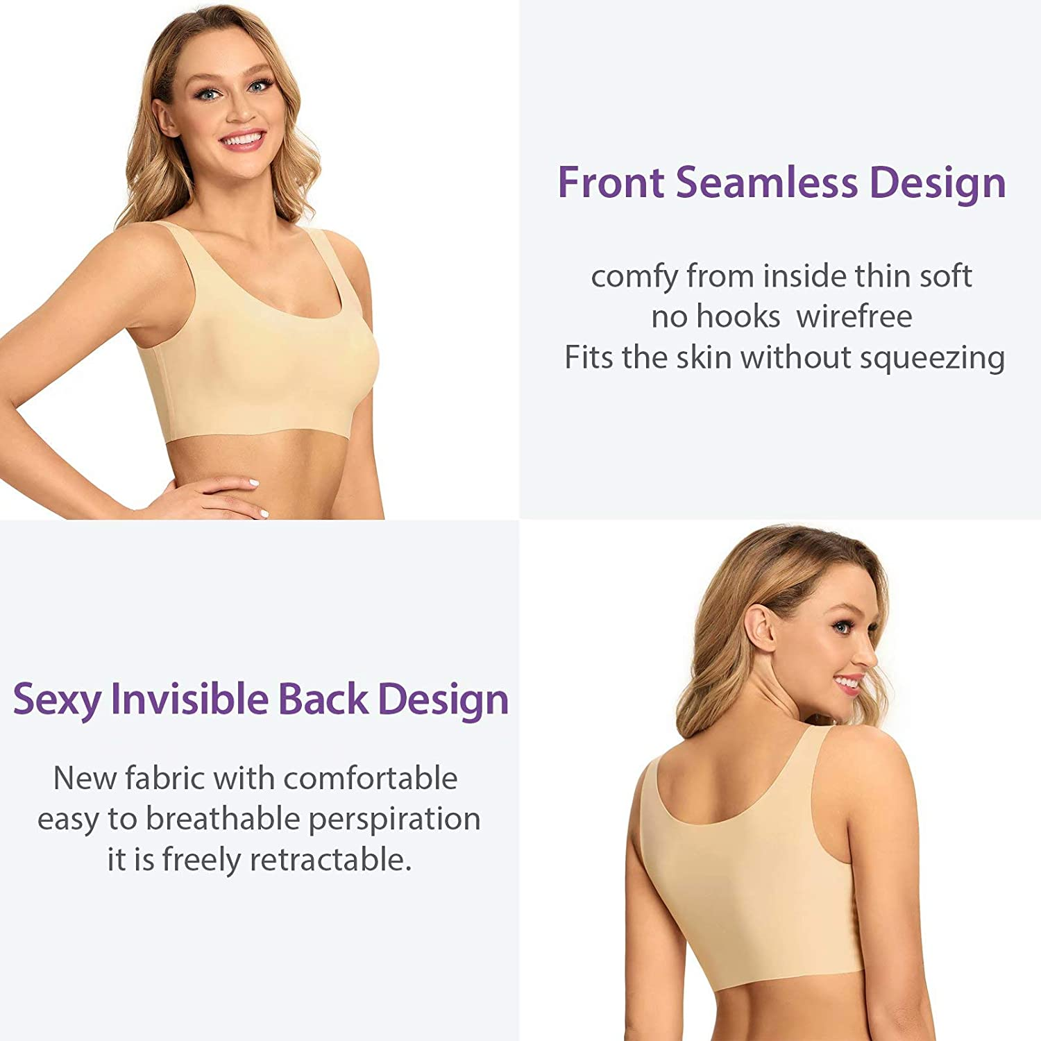 Women's Seamless Wireless Soft Daily Bra