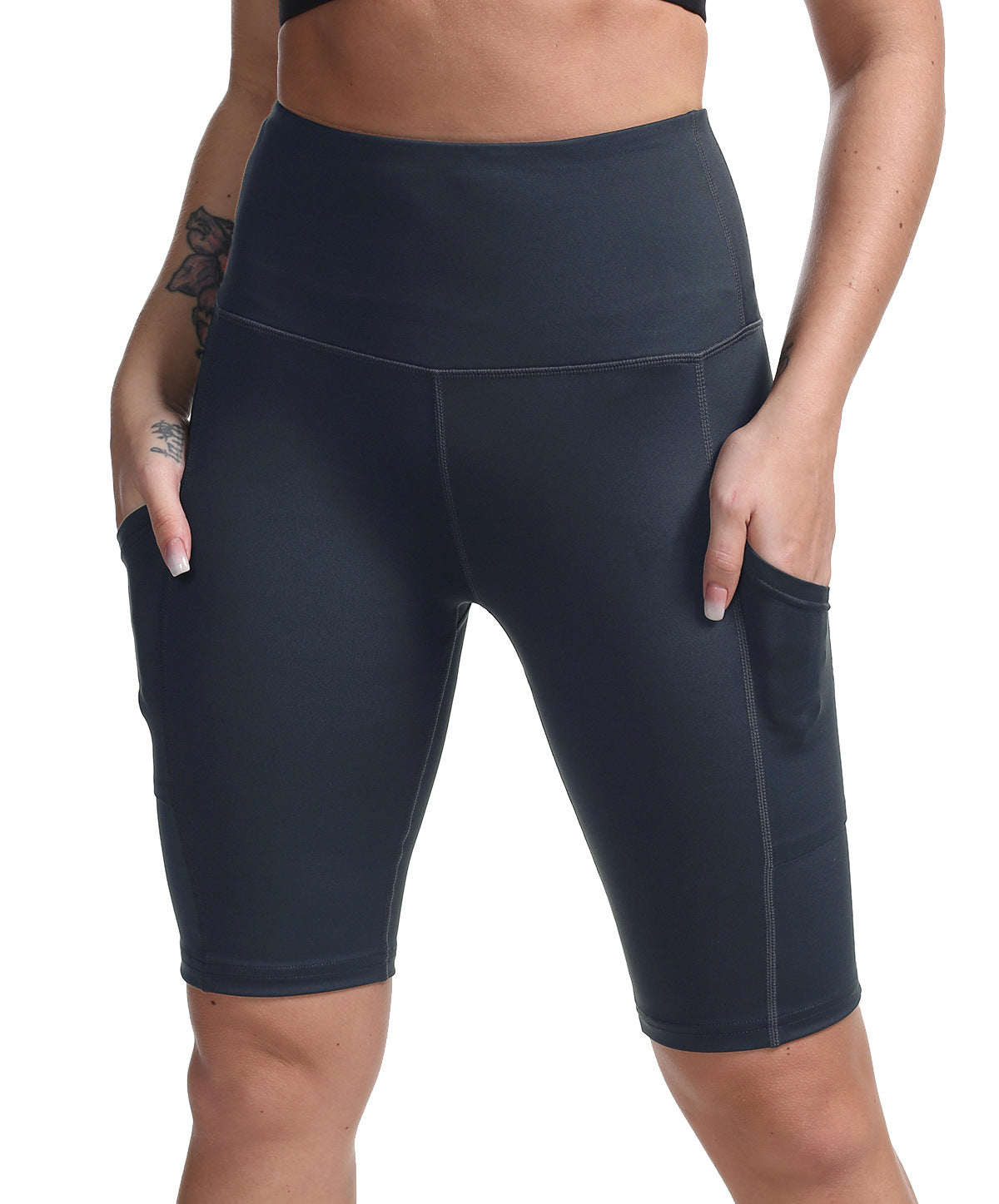 Women High Rise Bike Short With Pocket