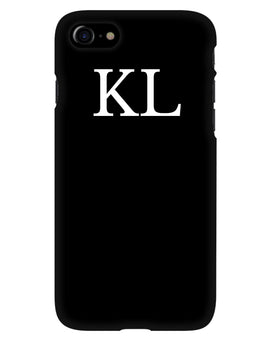 Black Personalised Phone Case