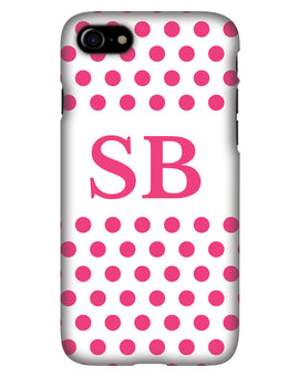 White with Pink Dots Personalised Phone Case